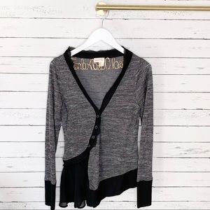 Anthropologie Meadow Rue Askew Gray Cardigan